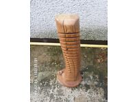 Lovely hand carved C D holder ,very unusual ,,in good condition ,,calls only