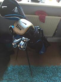 Dunlop full size golf clubs with NIKE SQ MACHSPEED DRIVER + 12 srixon AD333