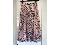 Whistles pink animal print skirt size 8