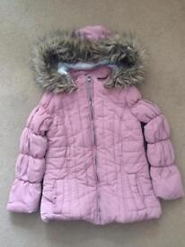 Girls pink winter coat
