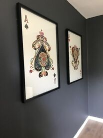 Large King & Queen style 3D wall art