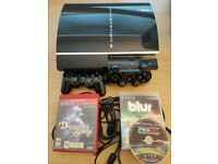 PS3 (40GB, fat, Japanese model), 2 controllers + Demon's Souls + Blur