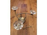 Antique brass light fitting with halogen bulbs from John lewis