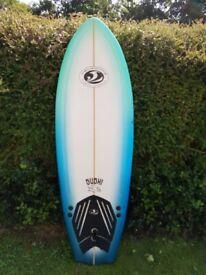 Hardly Used Surfboard 5'8 Sushi (American Board Company