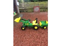 John Deere Large Tractor, Trailer and Loader Ride on