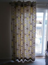 2 pairs of Next Ochre Curtains.