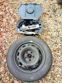 Polo spare wheel and jack kit