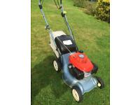 """Honda self propelled mower just serviced & New cables sound lawnmower 16"""" cut with grass bag 4.5hp"""