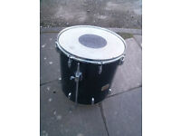 "Pearl 14"" Tom Drum, 1960's metalic grey, Birch , Good Condition- KEITH MOON STYLE"