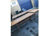 Solid wooden pub tables