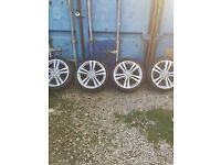 Audi A3 18inch alloy wheels with tyres
