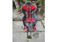 Bike seat for child, brand B - one max 22 kgs, great condition