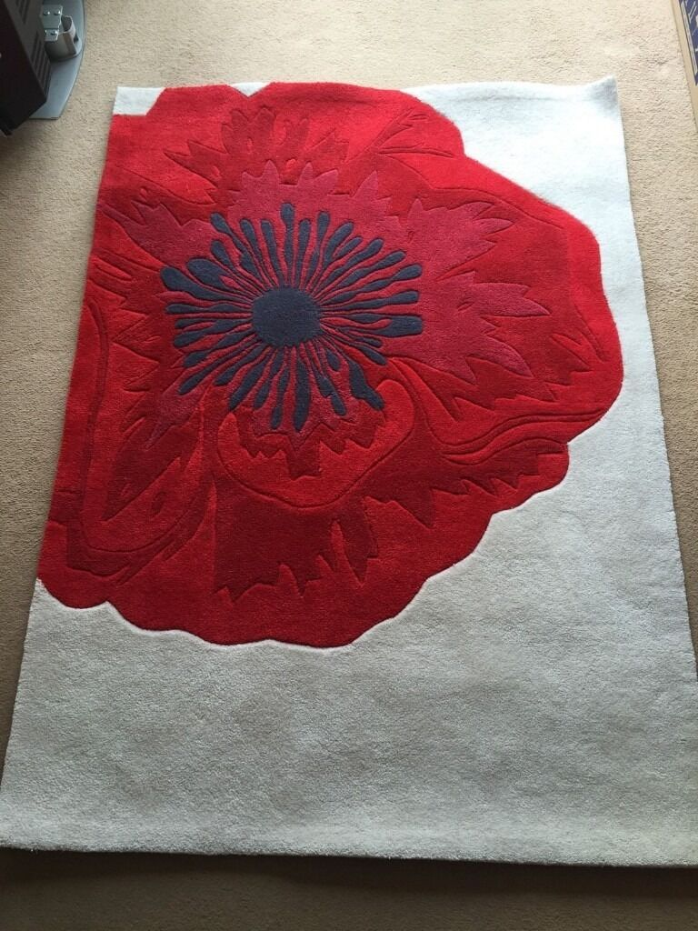 red and cream next poppy rug in telford shropshire