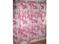 "Kids (Girls) Super Chic white/pink Curtains and Tie Backs -- professionally made 54"" x 75"" brand New"