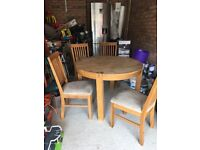 Dining room table and chairs- Glasswells