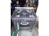 Gas Zanussi stand alone small range style cooker 70cm wide fan oven