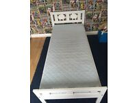 White IKEA child's bed