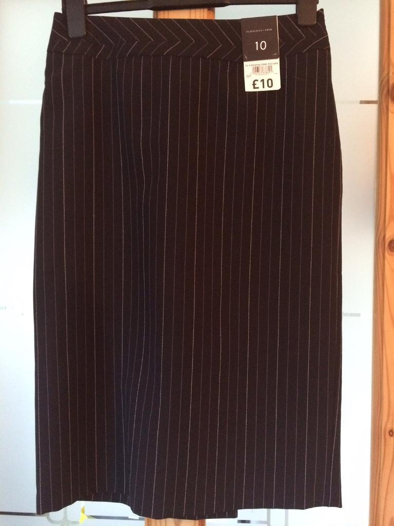 Size 10 pinstripe skirt BNWT