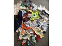 Large bundle of 0-3 months boy clothes