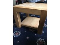 Tea table- solid pine wood, with few scratches but perfect for any home. Light wood colour