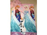 Frozen duvet cover warm hugs Olaf pink girls single