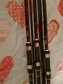 TF Gear 2.75tc banshee carp rods x3