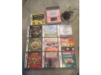 Pink Nintendo DS Lite with 10 games and carry case. Excellent condition.