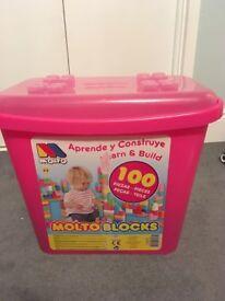 Pink Molto Blocks Toys