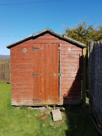 Garden shed and contents