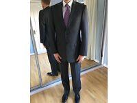 """Men's M&S, grey, 100% pure wool, classic suit. Jacket 40""""L, trousers 34/33"""", Belmont area"""
