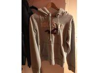Grey Hollister hoodie - small - never worn
