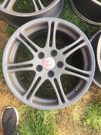 Honda Civic type R 17inch alloys 5x114.3 powder coated