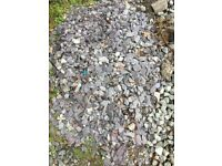 Plum coloured slate chippings for decoration - reclaimed two bags