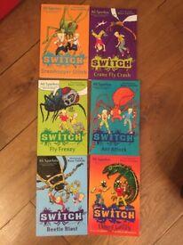 Bundle 6 x Switch Books by Ali Sparkes Children's Fiction Paperback Action Adventure