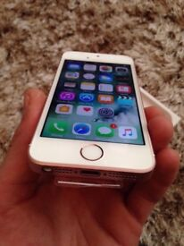 iPhone SE Rose Gold, 16GB Unlocked to any network! New condition with plastics on!