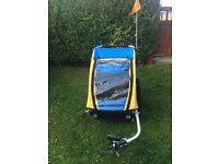 Burley Encore Bike Trailer - Yellow/Blue