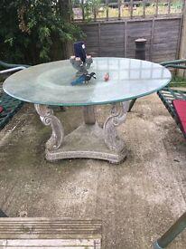 Garden glass table