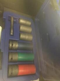 Blue point alloy wheel sockets