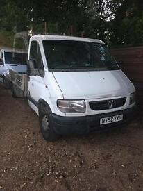 Vauxhall movano 2.5 dti flatbed truck 2003 52 Reg
