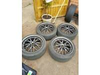 Alloys and good hankook tyres.