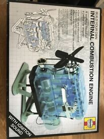 Internal Combustion Engine. A working model of a petrol car engine. New in box.