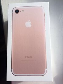 Brand new iPhone 7 in rose gold 32gb
