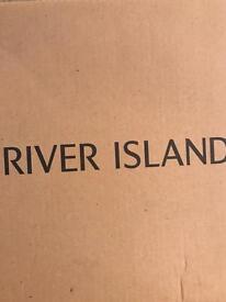 River. Island rose gold heels