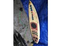 "Vintage surfboard 6'5"""