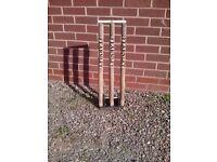 Spring loaded cricket stumps