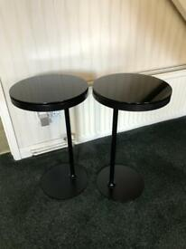Pair of IKEA Stockholm side tables in black