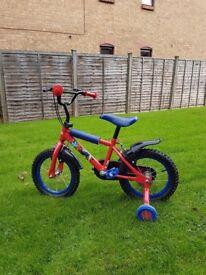Kids SpiderMan bike 14 inch wheels