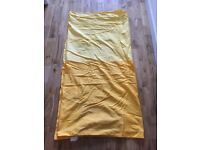 Two Tone Yellow Curtains with loops