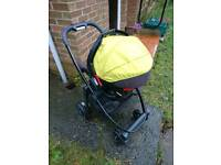 Graco 3in1push chair with both rain covers.
