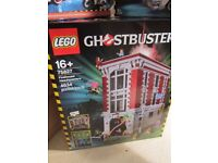 LEGO GHOST BUSTER FIRE HOUSE AND CAR,NEW